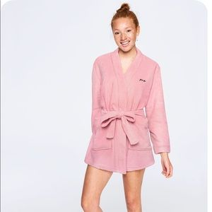VS PINK COZY ROBE